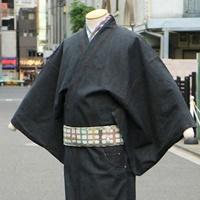 【ネットショップ情報 ➁】<br>渋く そしてカジュアルに☆<br>男のブラックデニム着物イメージ