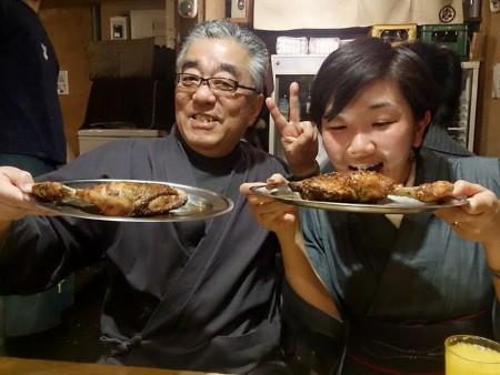 泉さん鶏肉食べる(PS)
